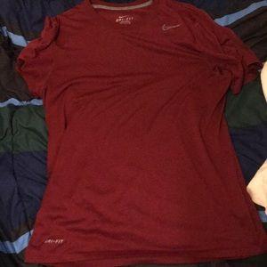 Maroon Nike Legend Dri-fit tshirt